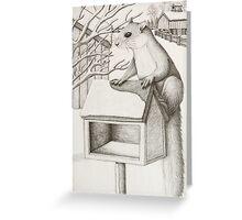 Squirrel on Farm, Blank Note Card Greeting Card