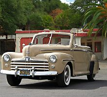 1947 Ford Super Deluxe Convertible / Old Gas Station by DaveKoontz