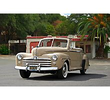 1947 Ford Super Deluxe Convertible / Old Gas Station Photographic Print