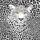 Black & White Camouflaged Leopard Design by artonwear