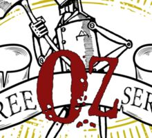 Wizard of Oz Inspired - Tin Man Oz Tree Service Sticker
