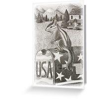 Chipmunk on Mailbox Greeting Card