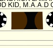 Kendrick Lamar Cassette Sticker