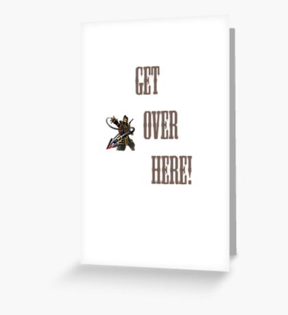 GET OVER HERE! Mortal Greeting Card