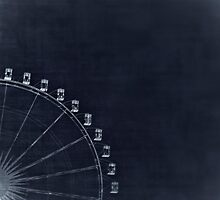 Graphic Ferris Wheel by Paula Burgoon