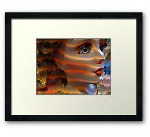 Doll Face Framed Print