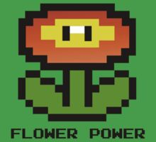 Nintendo 8-Bit Flower Power by OCD Gamer Retro Gaming Art & Clothing