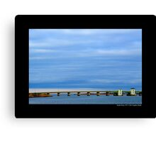 Country Route 46: William Floyd Parkway Bascule Bridge - Smith Point, New York Canvas Print