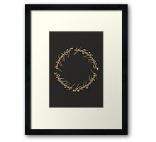 Lord of the Rings - The One Ring (Gold on Black) Framed Print