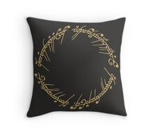 Lord of the Rings - The One Ring (Gold on Black) Throw Pillow