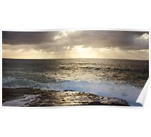 Sunrise Over Sea Poster