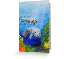 Sea Manatees Greeting Card
