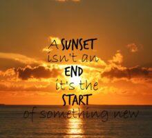Sunset - new start Sticker