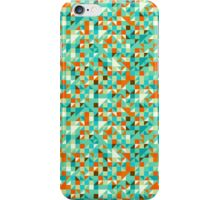 Green Blue & Orange Geometric Seamless Pattern iPhone Case/Skin