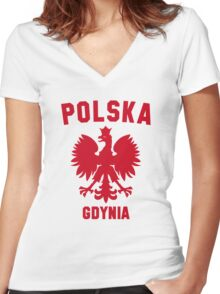 GDYNIA Women's Fitted V-Neck T-Shirt