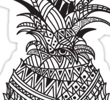 Pineapple Wrap | black & white Sticker