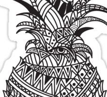 Pineapple Wrap | black & white Sticker