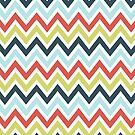 Colorful Classic Chevron Pattern by artonwear