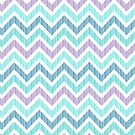Pastel Green And Pink Classic Chevron Pattern by artonwear