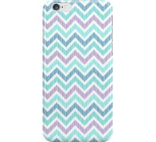 Pastel Green And Pink Classic Chevron Pattern iPhone Case/Skin