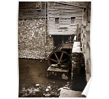 Water Wheel - West Point on The Eno, Durham, NC, USA Poster