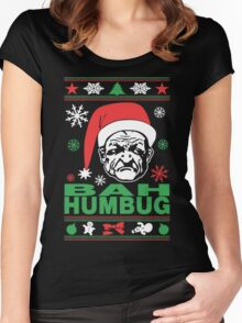 Bah Humbug Ugly Christmas Women's Fitted Scoop T-Shirt