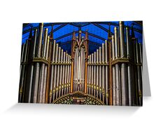 Montreal's Notre Dame organ Greeting Card