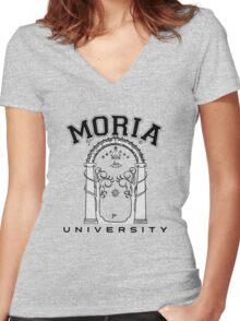 Moria university Women's Fitted V-Neck T-Shirt