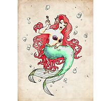 Mucha-esque Mermaid Photographic Print