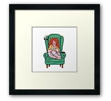 Reading fictional characters: Eleanor Framed Print