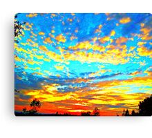 Colored Popcorn Sunset Canvas Print