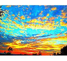 Colored Popcorn Sunset Photographic Print