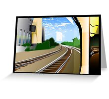 Rails To The Unknown Greeting Card