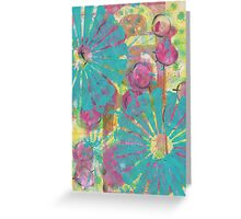 Blue Flower Abstract Greeting Card