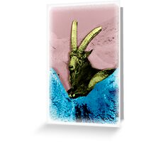 Goat on the Rocks Greeting Card