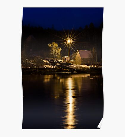 Pre-Dawn on the South Shore Poster