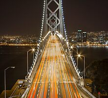 Bay Bridge at Night II by Richard Thelen