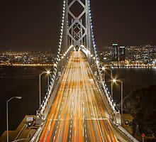 Bay Bridge at Night II by Richard Thelen