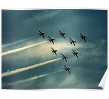 """Ladies and Gentleman, The Red Arrows""  Poster"