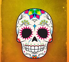 Sugar Skull CMYK ~ iPhone Case by hmx23