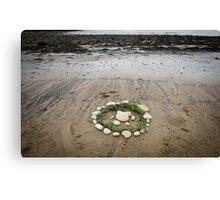 Circles on the beach Canvas Print