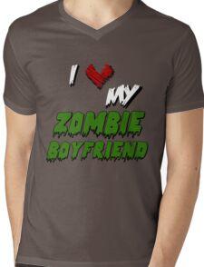 I <3 My Zombie BF Mens V-Neck T-Shirt