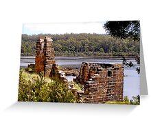 Sarah Island Ruins Greeting Card