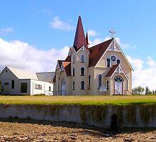 Church on the beach by Michelle Ricketts