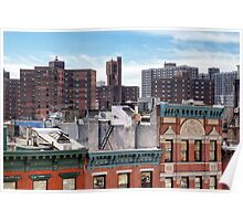 Lower East Side Roofscape - New York City Poster