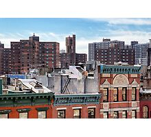 Lower East Side Roofscape - New York City Photographic Print