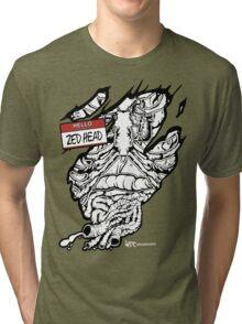 HELLO my name is ZED HEAD (dark colors) Tri-blend T-Shirt