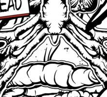 HELLO my name is ZED HEAD (dark colors) Sticker