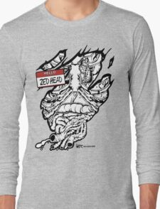 HELLO my name is ZED HEAD (light colors) Long Sleeve T-Shirt