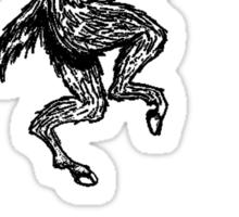 got hooves? Black Sticker